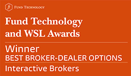 Bewertungen für Interactive Brokers: Fund Technology and WSL Institutional Awards 2017 - Bester Broker-Dealer für Optionen