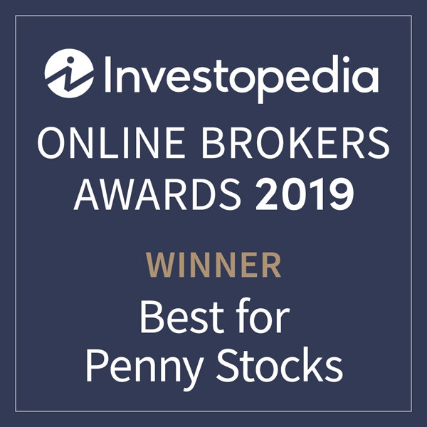 "Menzione nella classifica ""Best for Penny Stocks"" (migliori broker online per le penny stock) di Investopedia"