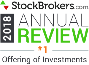 "Valutazioni Interactive Brokers: riconoscimenti Stockbrokers.com 2018 - classificatosi al 1° posto nel 2018 nella categoria ""Offering of Investments"" (offerta di investimenti)"
