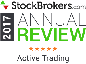 "Bewertungen für Interactive Brokers: Stockbrokers.com Awards 2017 - 5 Sterne - ""Aktives Trading"""