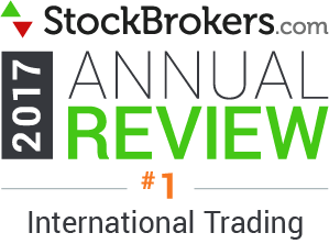 Valutazioni Interactive Brokers: riconoscimenti Stockbrokers.com 2017: Best for International Trading (miglior offerta di trading internazionale)