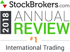 "Valutazioni Interactive Brokers: riconoscimenti Stockbrokers.com 2018 - classificatosi al 1° posto nel 2018 nella categoria ""International Trading"" (trading internazionale)"
