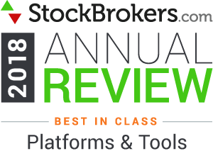 "Bewertungen für Interactive Brokers: Stockbrokers.com Awards 2018 - Nr. 1 in der Kategorie 2018 ""Plattformen & Tools"""